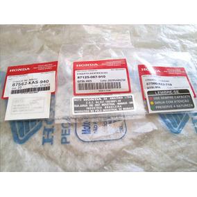 Kit Etiqueta Precaução Original Honda Ml E Cg 83 À 88