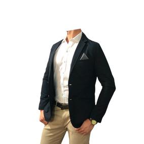 Blazer - Saco Para Hombre Marino Obscuro Marca Peaceful