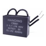 5 Unids Capacitor Partida 2,5uf X 450vac Fio Cbb61 40/85/21