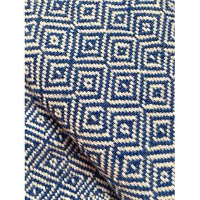 Chal Rebozo Azul Cielo Blanco 100% Algodón Pieza Única Telar