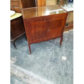 Antiguo Petit Mueble Bar De Estilo Frances Marqueterie
