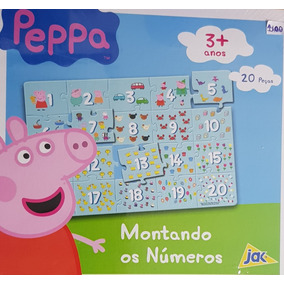 Peppa Montando Os Números - Quebra Cabeça Com 20 Peças