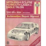 Libro Mitsubishi Eclipse Plymouth Laser 1990 Thru 1994 Vip