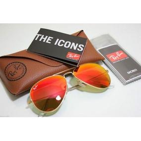 850e983233921 Ray Ban Aviador Laranja Espelhado - Óculos no Mercado Livre Brasil
