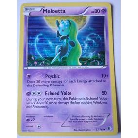 Cartas Pokemon Raras Meloetta & 9 Outras (ver Descrição)