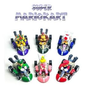 Mario Kart Miniatura Kit C/ 6 Carrinhos Fricção Frete Grátis