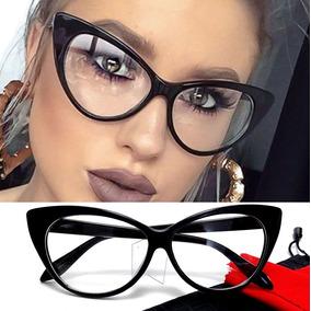 717086b18eb8a Cat Eye - Armação Óculos Feminino Big Gatinho Retrô Vintage