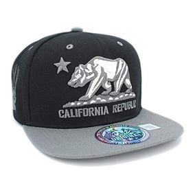 Borderline Gorra Plana California Republic - Gorras para Hombre en ... 3caeefb4f59