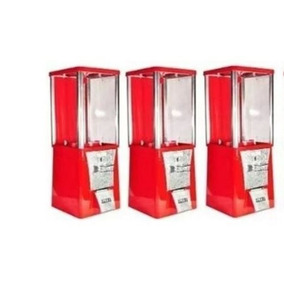 Envio Gratis!! 3 Máquina Chiclera Chicles Vending 1 Peso