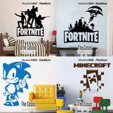 Vinilos Decorativos Pared Video Juegos Sonic Fortnite Mario