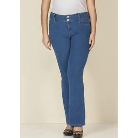 Pantalon Dama Corte Recto Push Up Especial Azul Love 1393996