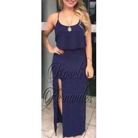 e6f7476ba Mulheres De S Bem Gostosa - Vestidos Longos Femininas Azul marinho ...