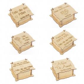 60 Lembrancinha Caixinha Personalizada Dia Das Mães Mdf Cru