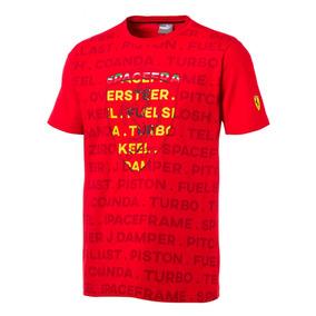 Playera Puma Sf Big Shield Rosso Corsa 577828-01 Rojo