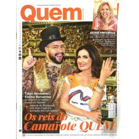 Revista Quem 858/16 - Fátima Bernardes/rita Lee/madonna