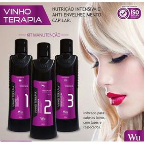 Kit Vinho Terapia Cliente Wu Cosmeticos 3 Produtos+bolsa