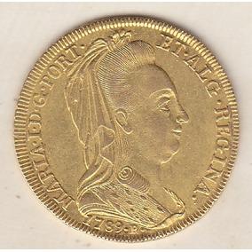 6.400 Réis 1789r Dona Maria I Véu De Viúva 14,34 Gr 6.300,00