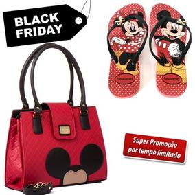Bolsa Couro Mickey Minnie - Bolsa de Couro Sintético Femininas no ... bb571a84771