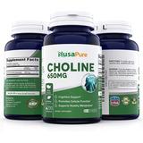 Colina Choline Cholina 200caps Mas Memoria Vitamina Cerebral