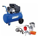 Compresor De Aire 50 Litros 2.5hp Portatil Garden Plus + Kit
