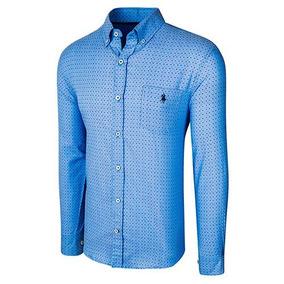 Camisa Polo Club Ak057 Color Azul Marino Caballero Oi