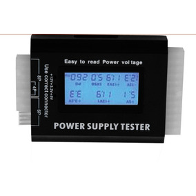Digital Lcd Pc Computador Pc Power Supply Tester 20/24 Pin