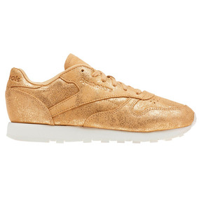 Tenis Atletico Leather Shimmer Mujer Reebok Cn0574