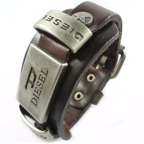 Pulseira Bracelete Couro Fivela Marrom Pronta Entrega Bd2137