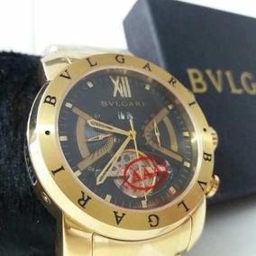 fee02638a45 Relogio Bulgari Iron Man Gold - Relógios no Mercado Livre Brasil