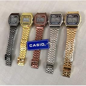 6242350cb38 Relogio Casio Vintage Dourado E Preto - Relógio Casio Unissex no ...