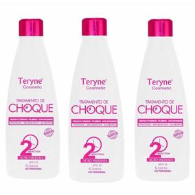 Combo 3 Tratamento De Choque Teryne Cosmetic 1 Litro