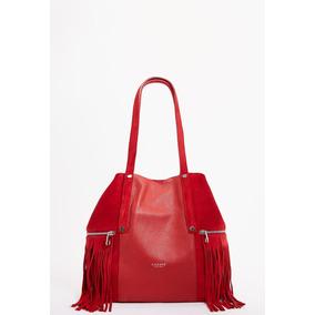 Cartera Bolsa De Mujer Lazaro Monterrey Cuero Rojo