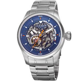 Reloj Akribos Xxiv Ak970ssbu Esqueleto Dial Automático Mov