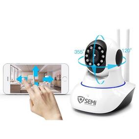 Câmera Ip Robo Com Visão Noturna Wifi Wireless Infravermelho