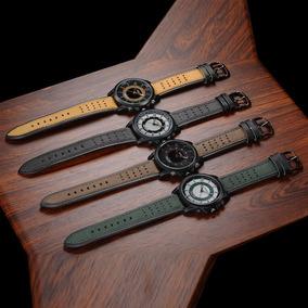 Relógio Masculino Soki Couro Legítimo Frete Fixo