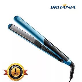 Prancha Chapinha Titanium Blue Azul 35w 220° Britânia Bivolt