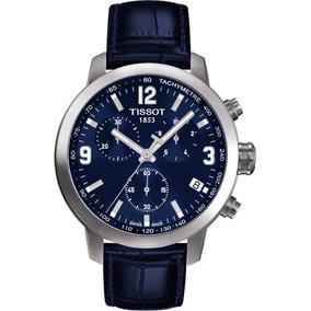 Relógio Tissot Novo Prc 200 T055.417.16.047.00 Azul Couro