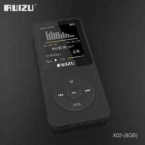 Mp3 Ruizu Bluetooth X02 Rádio Fm Mp3 Player Memória 8gb