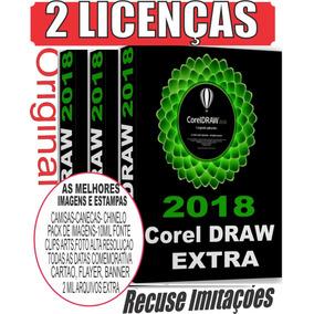 Coreldraw 2018 2 Chaves Original Corel Superior X7-x8-2017