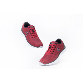 Tenis Comodos Charly 1029309 Rojo Negro 100% Originales