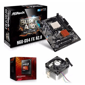Kit Proc Amd Fx-6300 14mb B. Edition + Asrock N68-gs4 Am3+