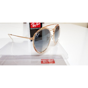 b43fb723c1a4a Óculos Sol Ray-ban Round Double Bridge Rb3647n Cinza Degradê