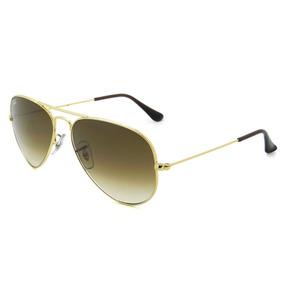 Marrom 001 51 Ray Ban Aviator 55 Rb3025 Dourado Oculos - Óculos De ... 7c2c1265e7