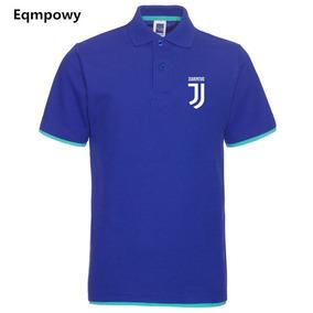 Moda Juventus Camiseta Hombres Malla De Algodón Solapa Manga ece9d4c7ba07e