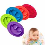 Plato De Silicona Bebe Antideslizante Disponible 5 Colores