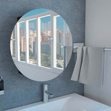 Hermoso Gabinete De Baño Con Espejo Circular