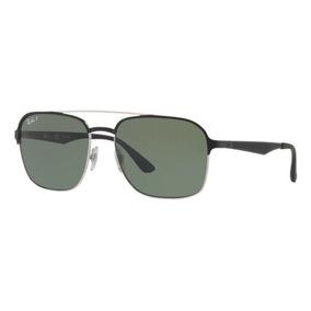 Oculos Sol Ray Ban Rb3570 90049a Preto Prata Verd Polarizada 1b56cf99d9