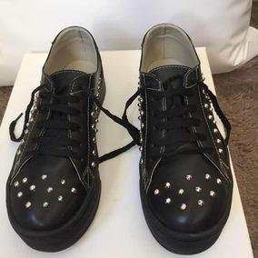 f81d91c7ee073 Zapatillas Simil Cuero Con Tachas Mujer - Ropa y Accesorios