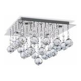 Plafon Moderno Lluvia Cristal 4 Luces Led 20w Palacio Deco
