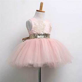 Vestido Rosa De Fiesta Para Niña